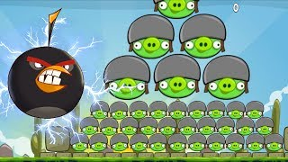 Angry Birds Huge - BIG ANGRY BIRDS HIT 100 BAD PIGGIES FULL GAME