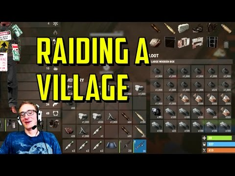 Rust | Raiding a Village! (MASSIVE LOOT)