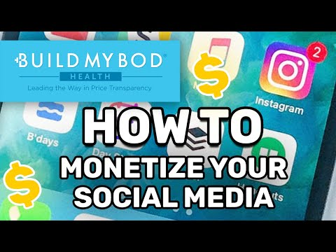 How to monetize your social media following with BuildMyBod Health