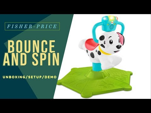 Bounce & Spin Puppy - Fisher-Price - Bounce And Spin | Unboxing And Setup | 12 Month +