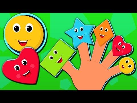 Barretta della famiglia | Forme famiglia dito | Rhymes | canzoni bambini dei