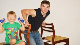 Как накачаться в домашних условиях 7  упражнений со стульями