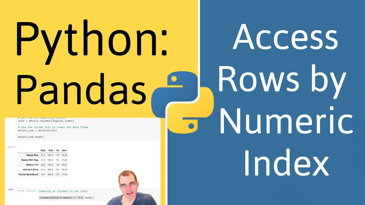 How to Access Rows by Numeric Index in Pandas (Python)