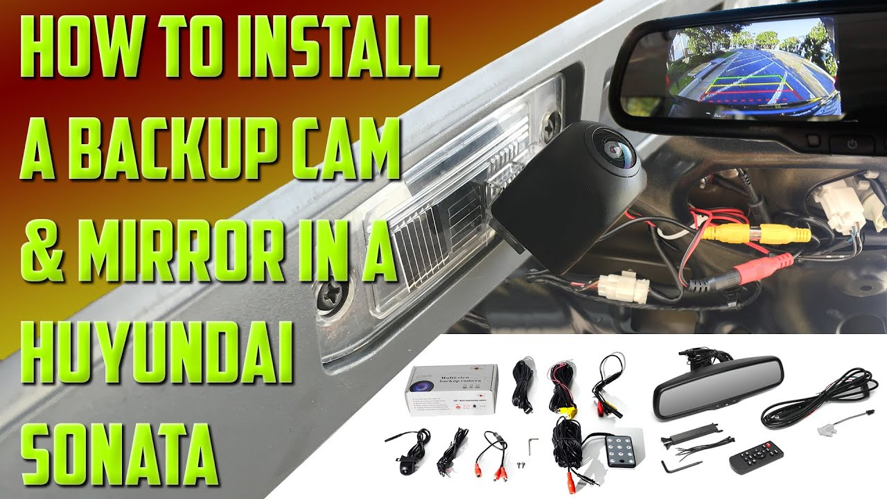 Backup Camera Wiring Harness Installing A And Monitor In Hyundai Sonata Youtube