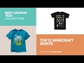 Top 12 Minecraft Shirts // Best Graphic Tees Collection