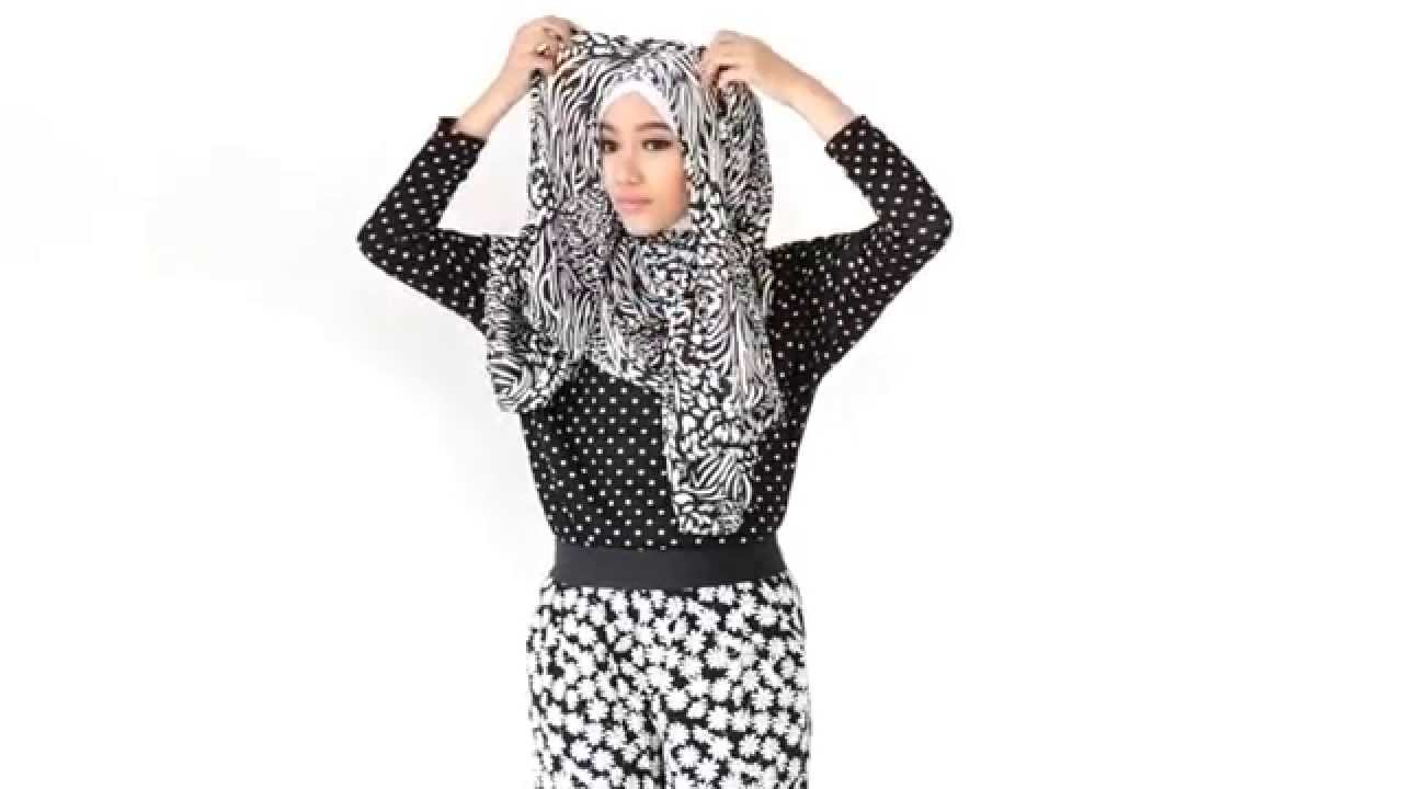 Tutorial Hijab Simple Monochrome YouTube