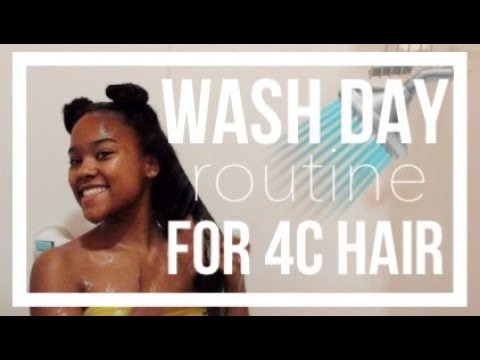 Wash Day and Deep Condition Routine for Waist Length 4c Natural Hair