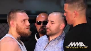UFC 196 Conor McGregor vs Nate Diaz Staredown