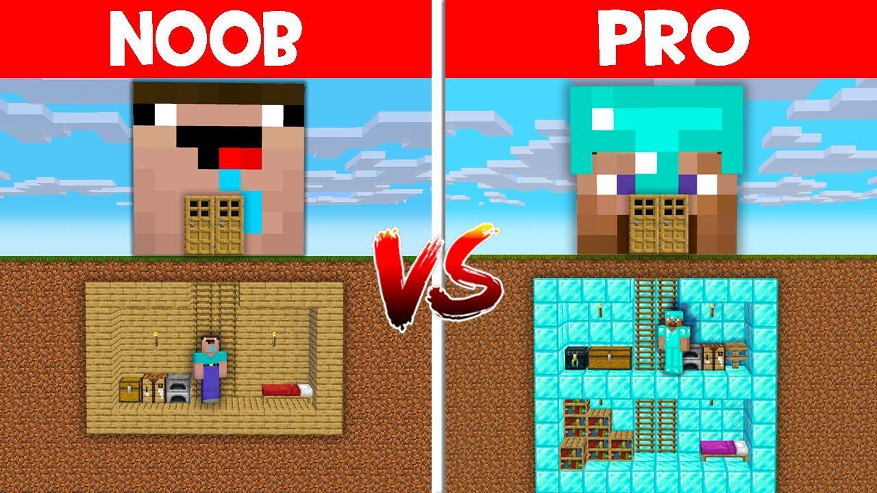 Minecraft NOOB vs PRO: NOOB FOUND SECRET BASE UNDER HEAD BLOCK! (Animation)