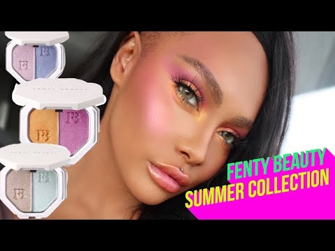 FENTY BY RIHANNA SUMMER COLLECTION REVIEW AND TUTORIAL   SONJDRADELUXE