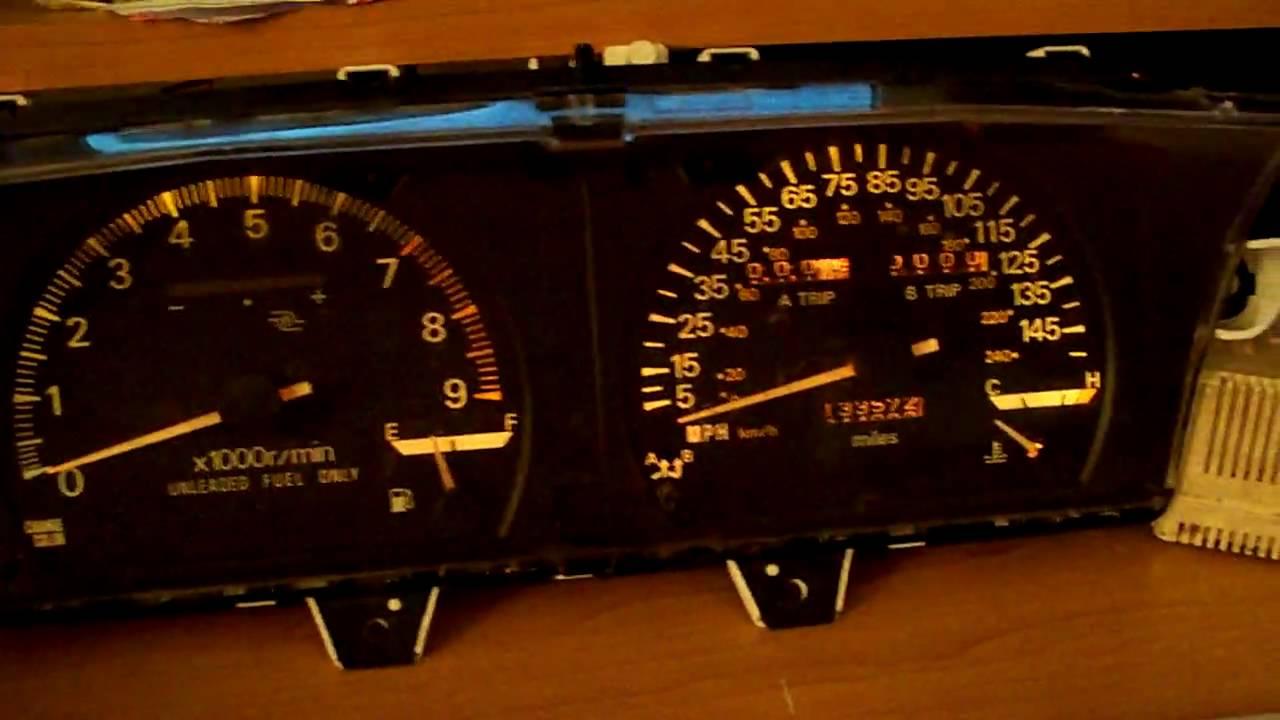 1991 1992 Mitsubishi Galant Vr 4 Speedo Tach Color Change Digital Boost Gauge Demo Youtube