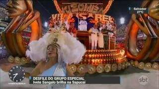 Estreante na Sapucaí, Ivete Sangalo dá show em desfile da Grande Rio - SBT Brasil (27/02/17)