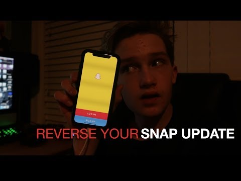 HOW TO GET THE OLD UPDATE OF SNAPCHAT BACK!! ( 2018 February!! )