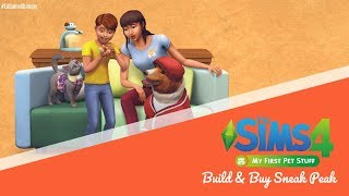 The Sims 4 || My First Pet || Build/Buy Sneaky Peak!