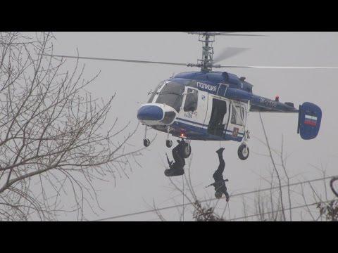 Учения ОМОНа, вертолет Ка-226. Kamov Ka-226 police.avi