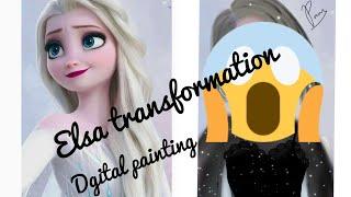 Download lagu HOW TO PAINT DIGITALLY ON ANDROID | Disney Elsa transformation| IbispaintX| Digital painting #1