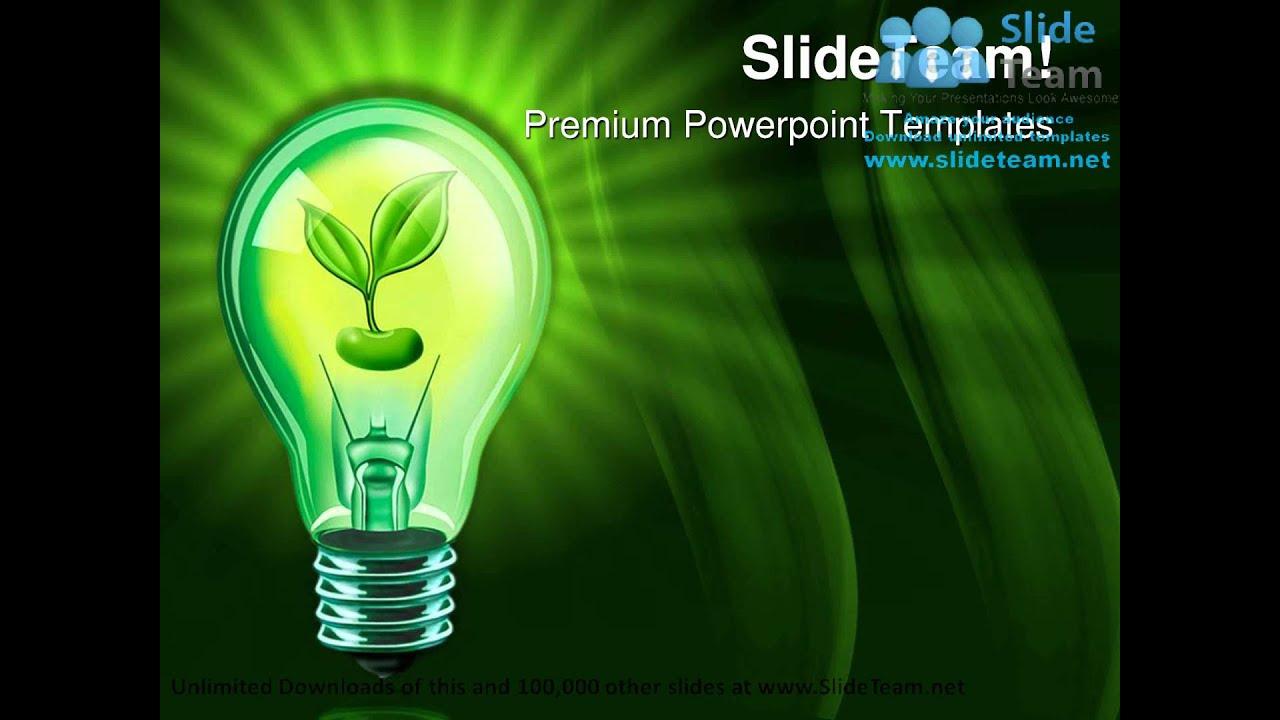 Light bulb with plant nature powerpoint templates themes and light bulb with plant nature powerpoint templates themes and backgrounds graphic designs youtube toneelgroepblik Gallery