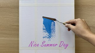 Daily challenge #180 / Acrylic / Nice Summer Day