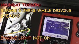 Hyundai Tucson: Surges & Jerks When Holding Steady Throttle - No Codes