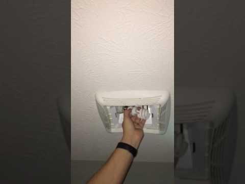 replace lightbulb in nutone light fan