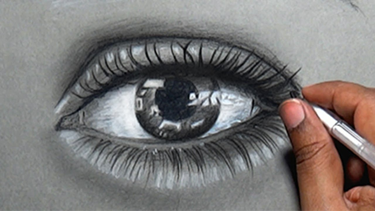 This is a graphic of Divine Real Eye Drawing