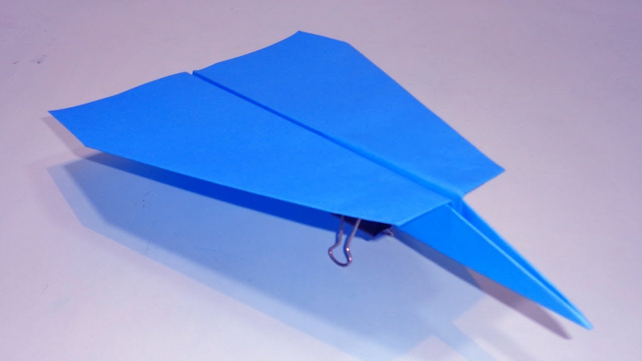 How to make homemade paper plane that flies forever