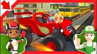 Blaze und die Monster-Maschinen. Blaze und aj. Blaze Monster Cars Kinder. Monster-LKW-Cartoon.