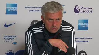 Angry Mourinho rips into his players after United lose to Brighton
