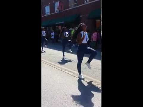 Lincoln University Marching Musical Storm Dance Line S.O.S. 2014 Missouri Classic Parade