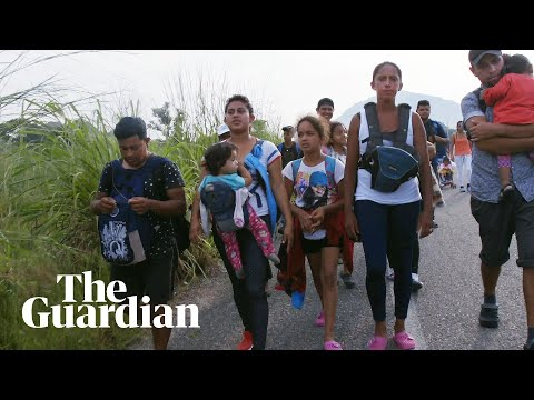 On the road with the migrant caravan