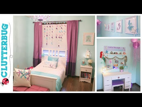 Diy Mermaid Bedroom On A Budget Before And After Room Tour
