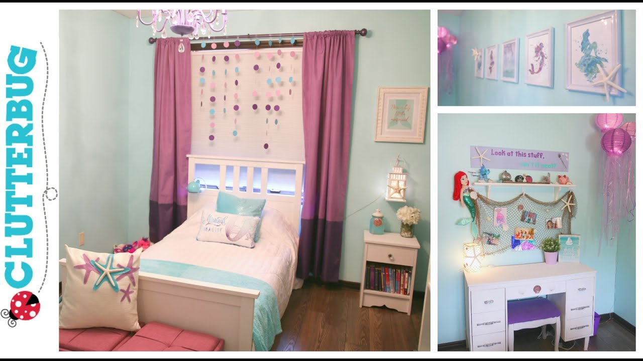 Diy mermaid bedroom on a budget before and after room - Stuff for girls rooms ...