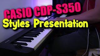 2019 NEW CASIO CDP-S350 Rhythms Demo | 88 Keys Piano Arranger Keyboard