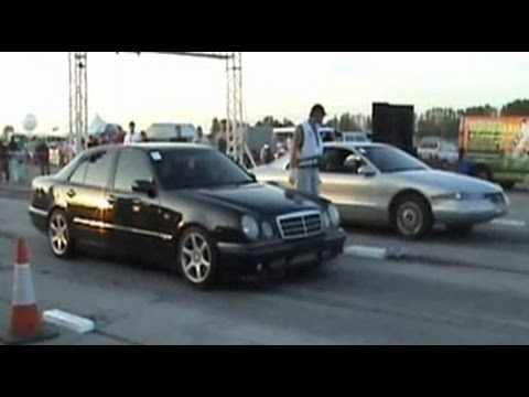 Mercedes E55 Amg Vs Lincoln Mark Viii Drag Race 1 4 Mile Youtube