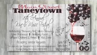 Taneytown 8th Annual Wine, Brew & Music Festival 2019