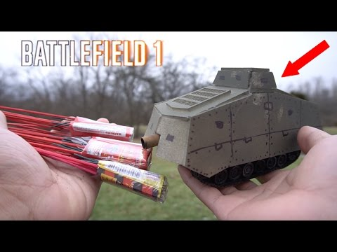 Cheap RCtank BattleField Firework Mods