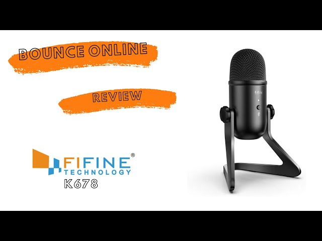 Bounce FiFine K678 USB Mic Review #Review #USBMIC