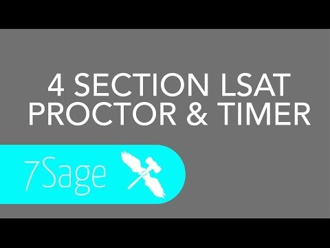 LSAT Proctor & Timer for 4 Section LSATs