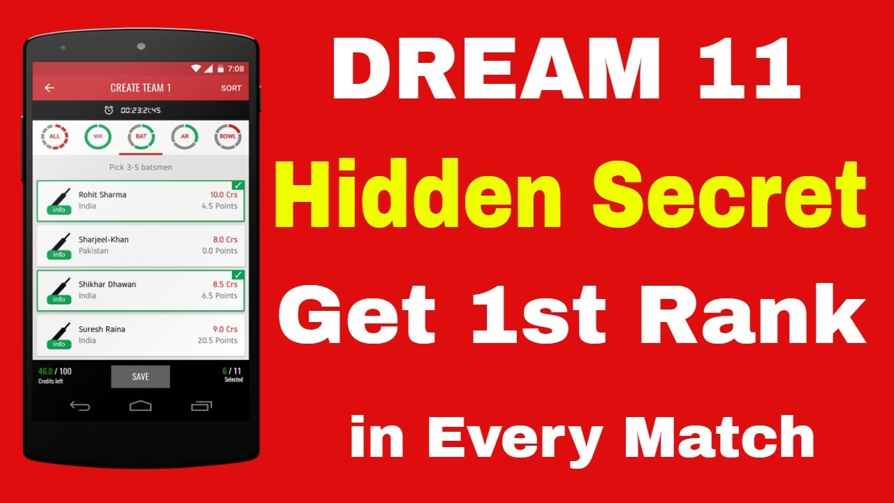 Dream11 Tips and Trick, Prediction Today Match, Win 100