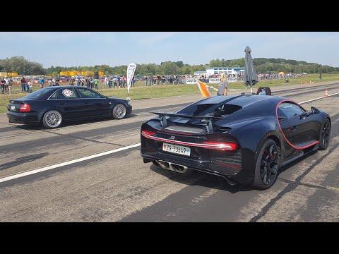 1300HP Audi S4 B5 vs Bugatti Chiron