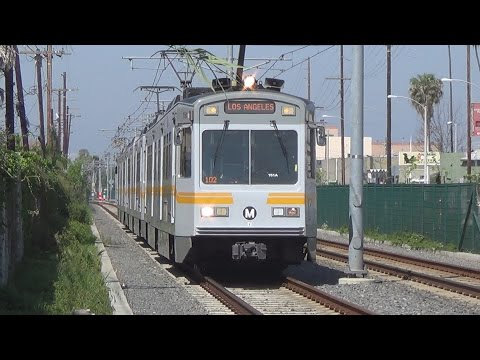 High Speed Light Rail Action And Union Pacific Chase Along La Habra Subdivision