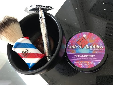 Catie's Bubble Purple Grapefruit Cold Water Head Shave