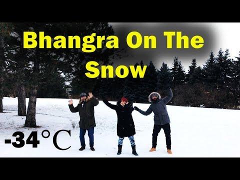 Bhangra On The Snow (-34°C) | Kalol In Ottawa | Canada Couple Vlogs | Diljit Dosanjh | Gulabi Pagg