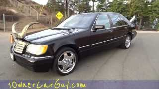 Wtf Redneck Mercedes Bull Horns & Stacks W140 Exhaust Pipes Custom Benz Air Suspension