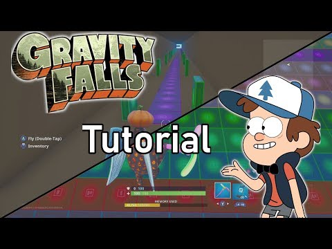 Gravity Falls Theme Song (Fortnite Tutorial) - With Island Code  