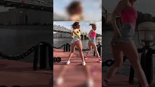 Blonde girls TWERK Sexy dance in street - Twerk Dance- #shorts #short #twerk #twerking #sexy #dance