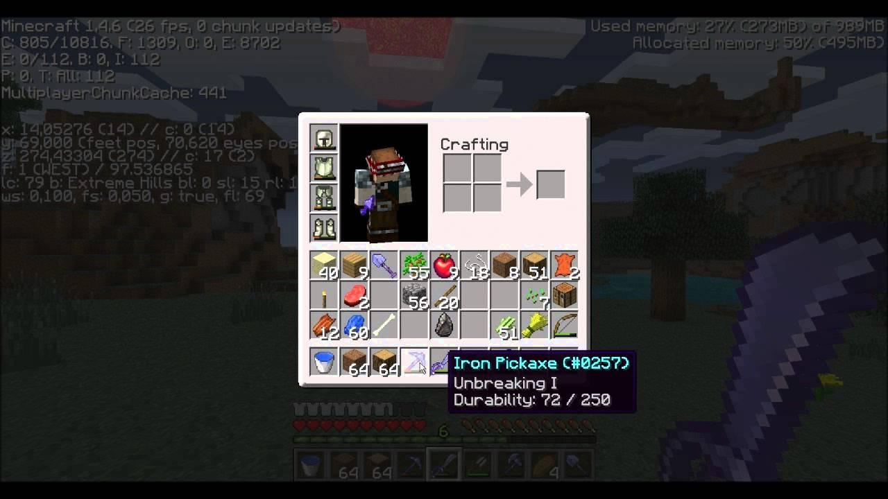 TUTO Minecraft 1.8.8 : Comment savoir l'ID et la durabilité des items ?
