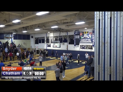 Chatham vs Snyder Boys Basketball G3 N2 Semifinal