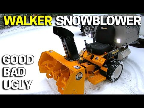 Walker Lawn Mower Snowblower Demo & Review In ACTION