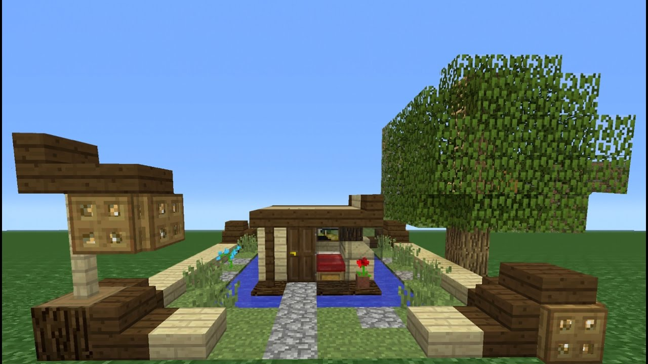 minecraft tutorial how to make a 4x4 house smallest house ive ever made
